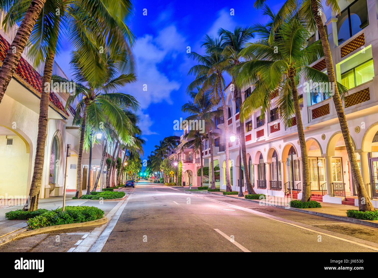 Palm Beach, Florida, USA at Worth Ave. Stock Photo