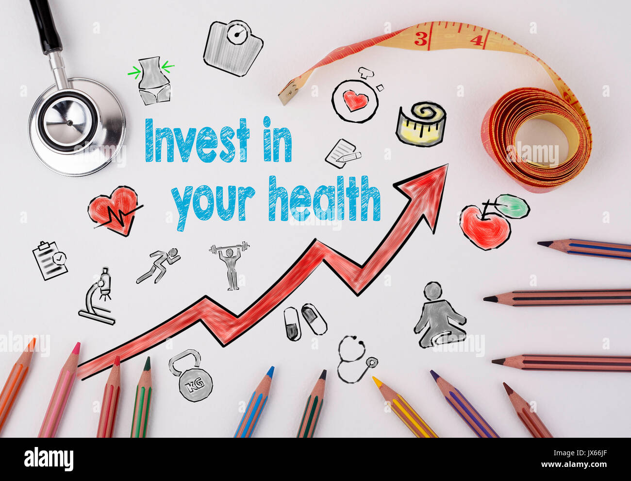 Invest in your health concept. Healty lifestyle background. Stock Photo