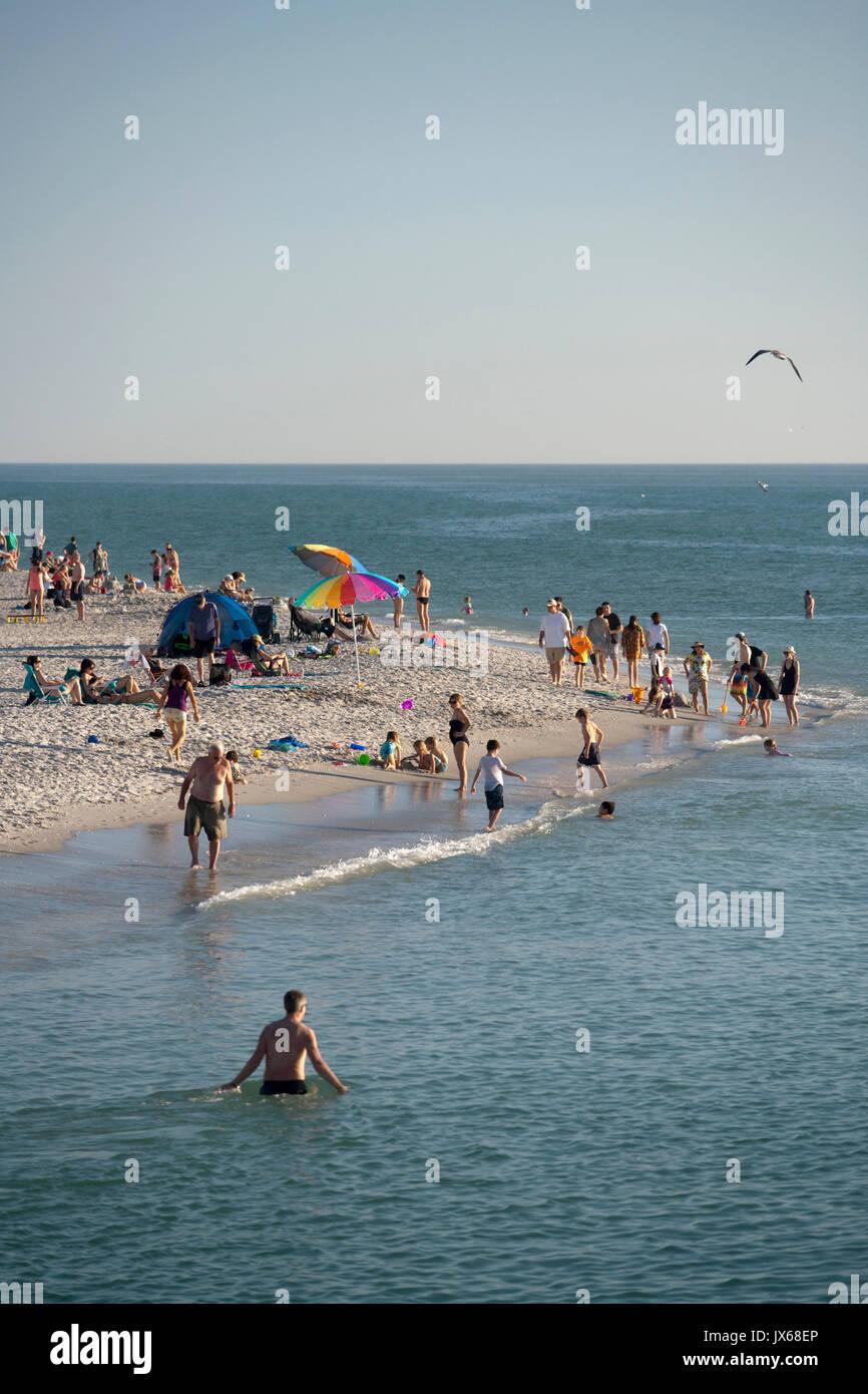 Sanibel Island, Florida beach Stock Photo