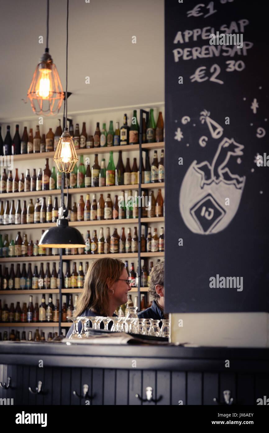 Brouwerij 't IJ Brewery in Amsterdam (Netherlands). March 2015. Portrait format. - Stock Image