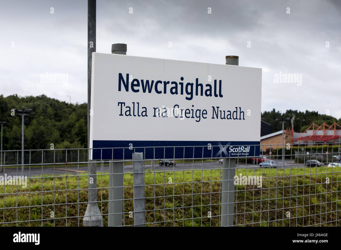 Newcraighall train station in the outskirts of Edinburgh - Stock Image