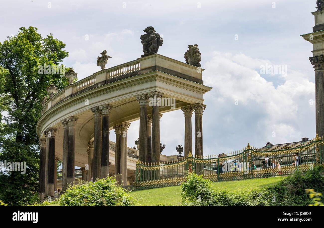 Sanssouci Palace Potsdam Germany Stock Photo