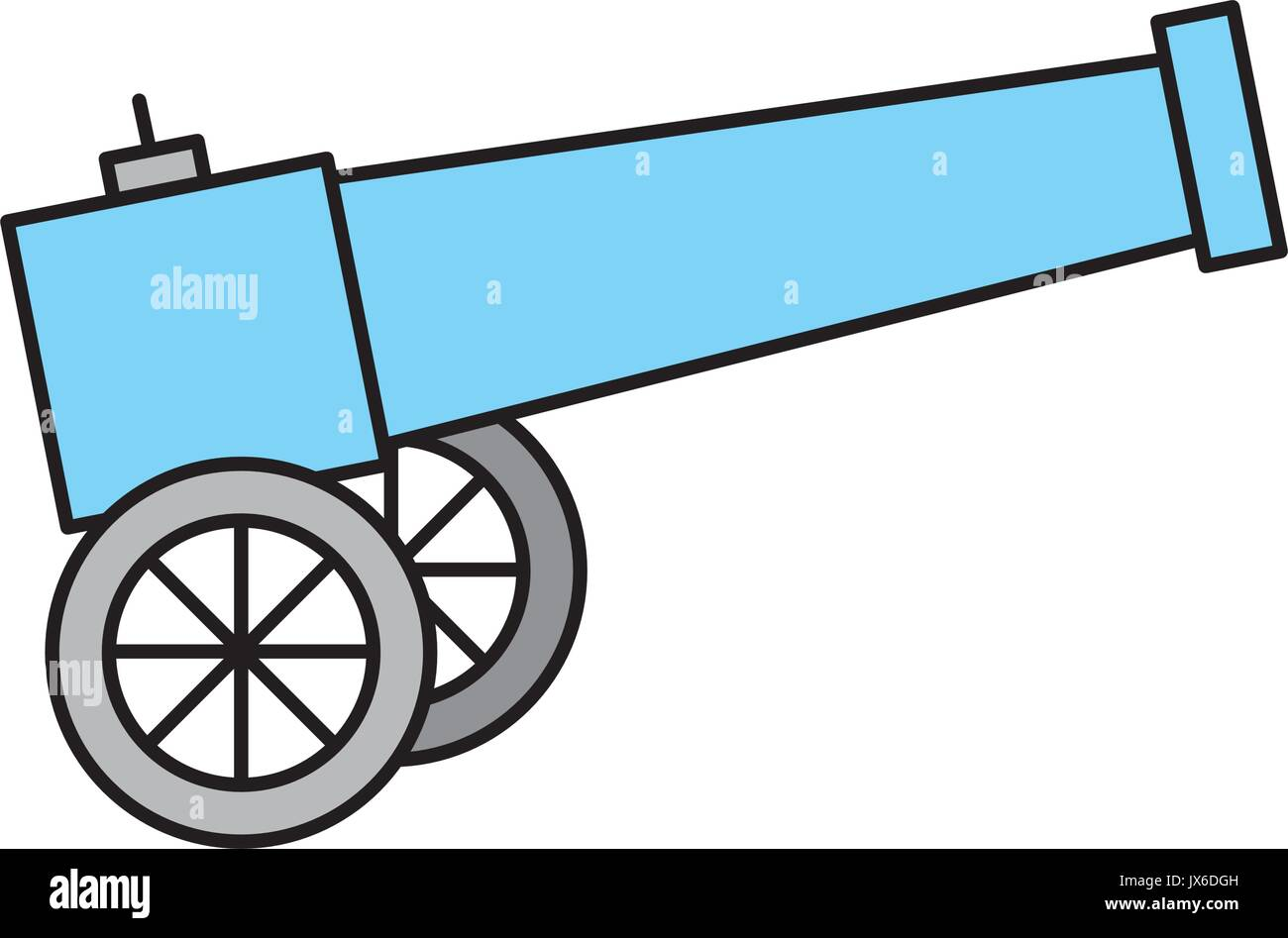 Old cannon isolated icon - Stock Vector