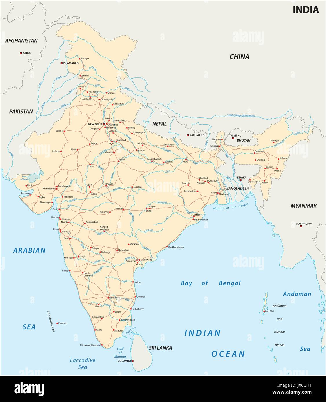 Map Of China And India Stock Photos & Map Of China And India ... China Border With India Map on india china boundary map, spain border map, india border changes, russia border map, australia border map, france border map, pakistan border map, western chinese border map,