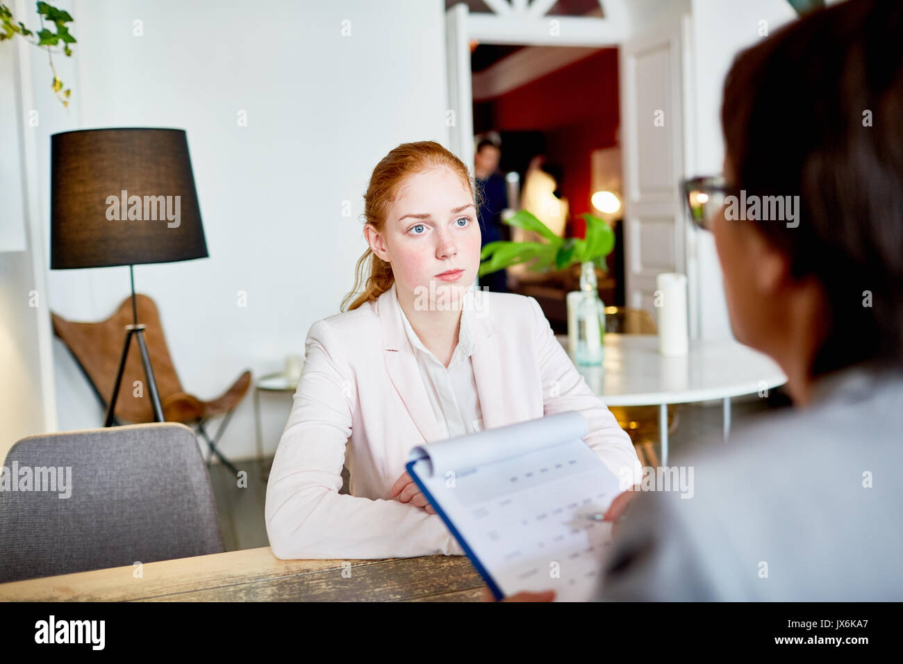 HR Manager Conducting Interview - Stock Image