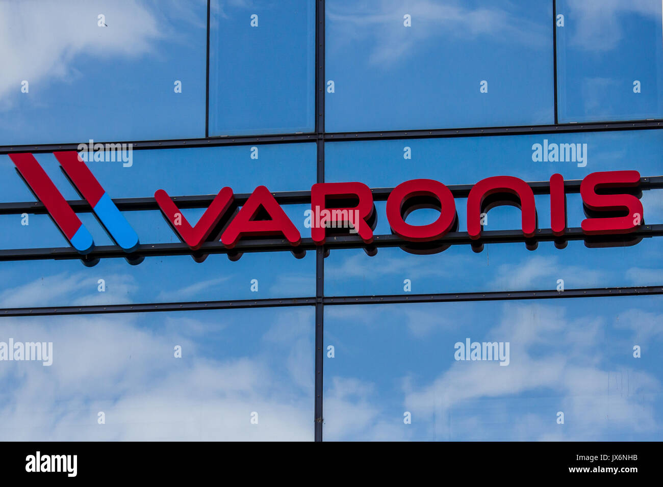 March 31, 2017, Herzliya, Israel. Varonis corporate headquarters office. Varonis developed a security software platform to track, visualize and protec - Stock Image