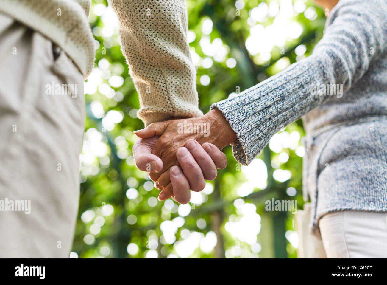 Affection of seniors Stock Photo