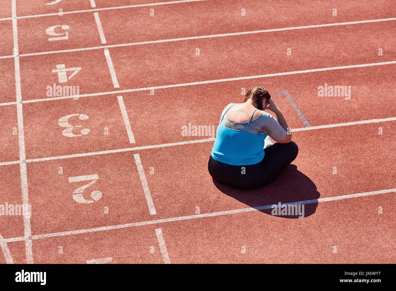 Stress after workout - Stock Image