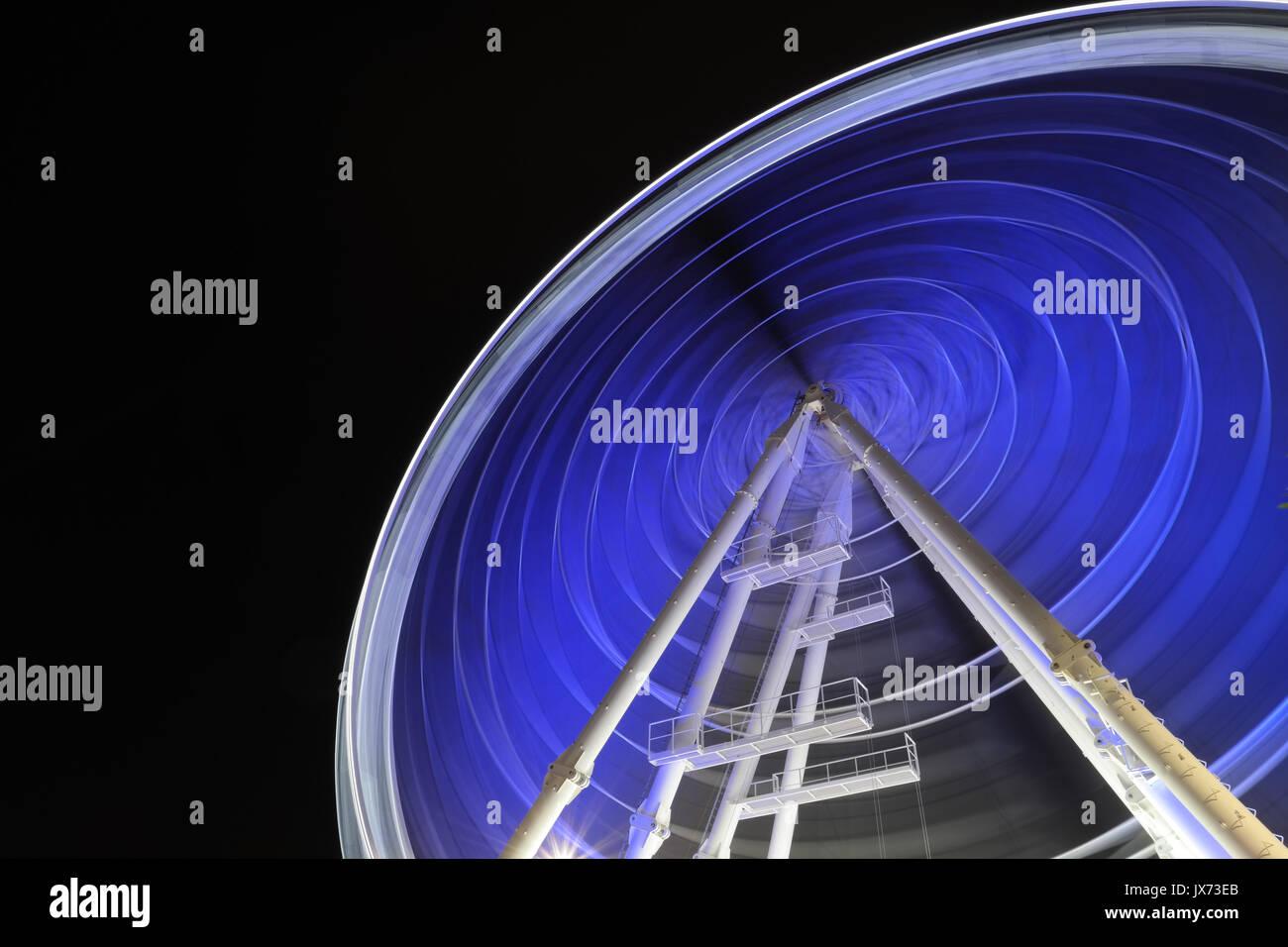 Marina Eye ferris wheel in Abu Dhabi - Stock Image