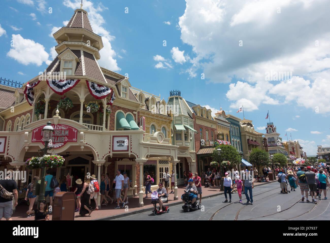 Plaza Ice Cream Parlour on Main Street in Magic Kingdom, Walt Disney World, Orlando, Florida. Stock Photo