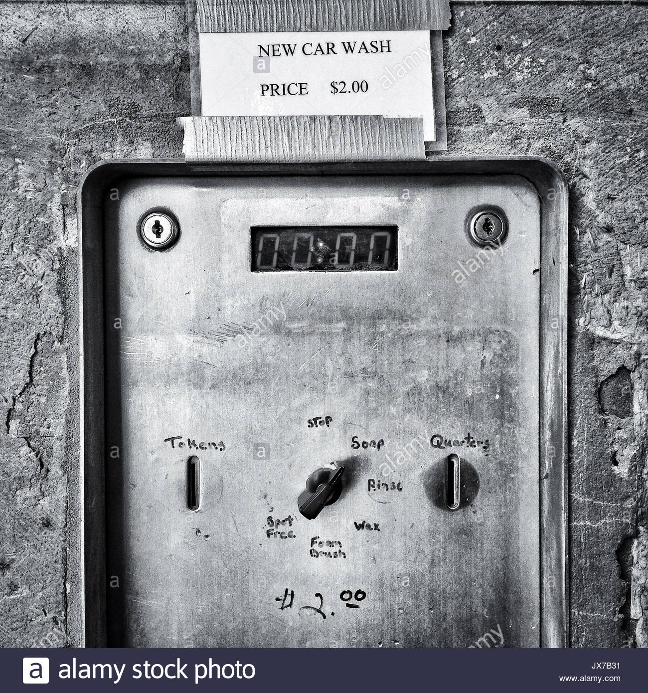 A coin operated machine at a car wash Stock Photo: 153826373