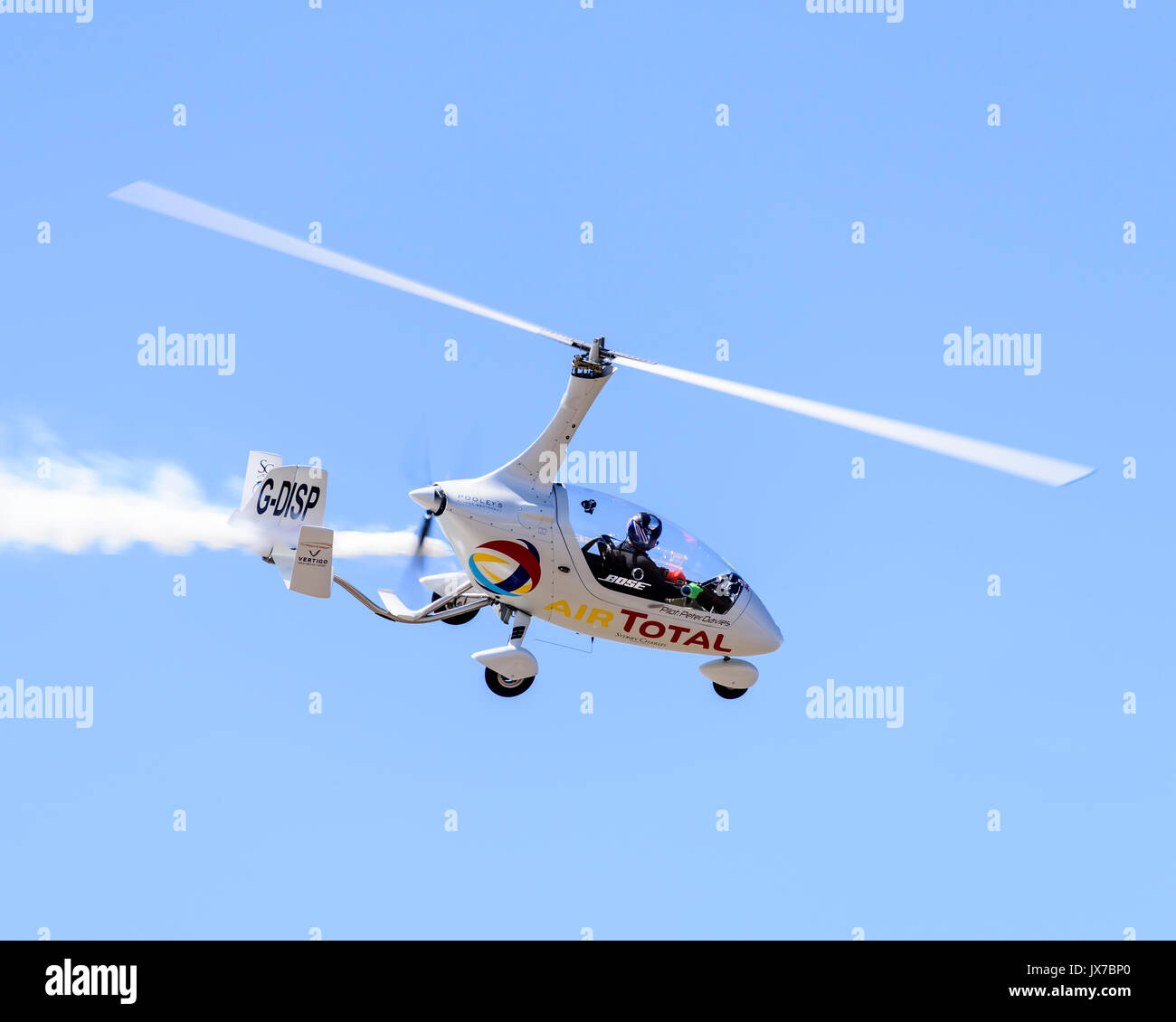 Peter Davies flying the Gyro Air Displays RotorSport Calidus Gyroplane -  Stock Image