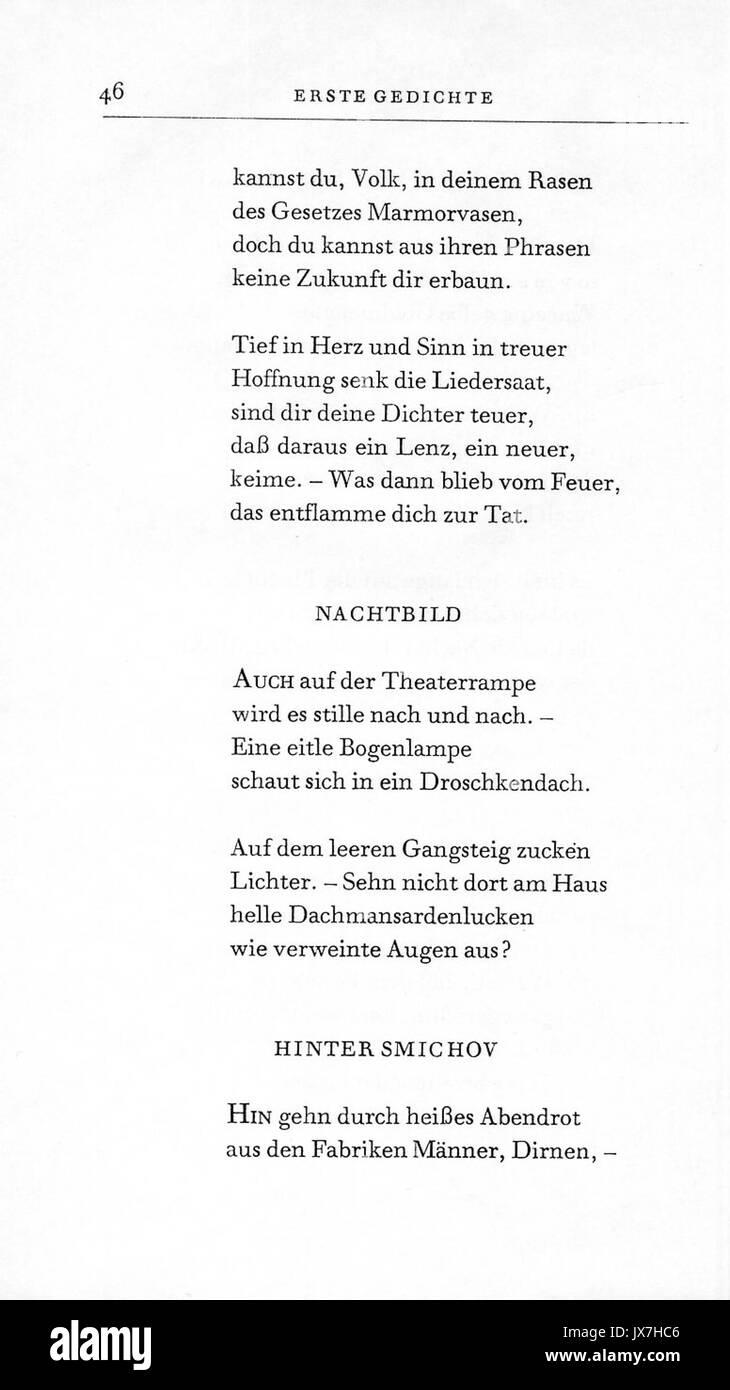 Rilke gedicht zukunft