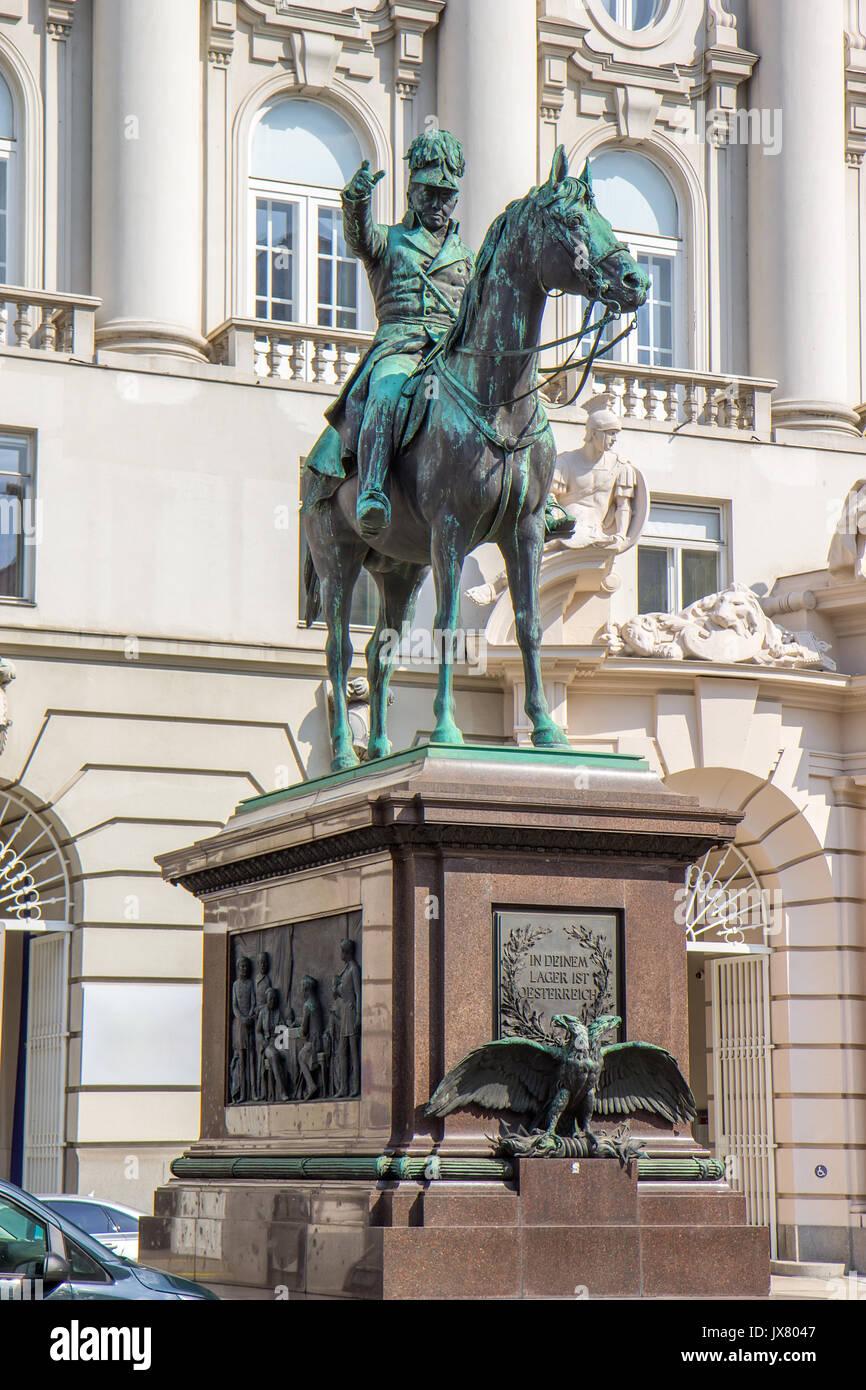 Joseph Radetzky statue in Vienna, Austria