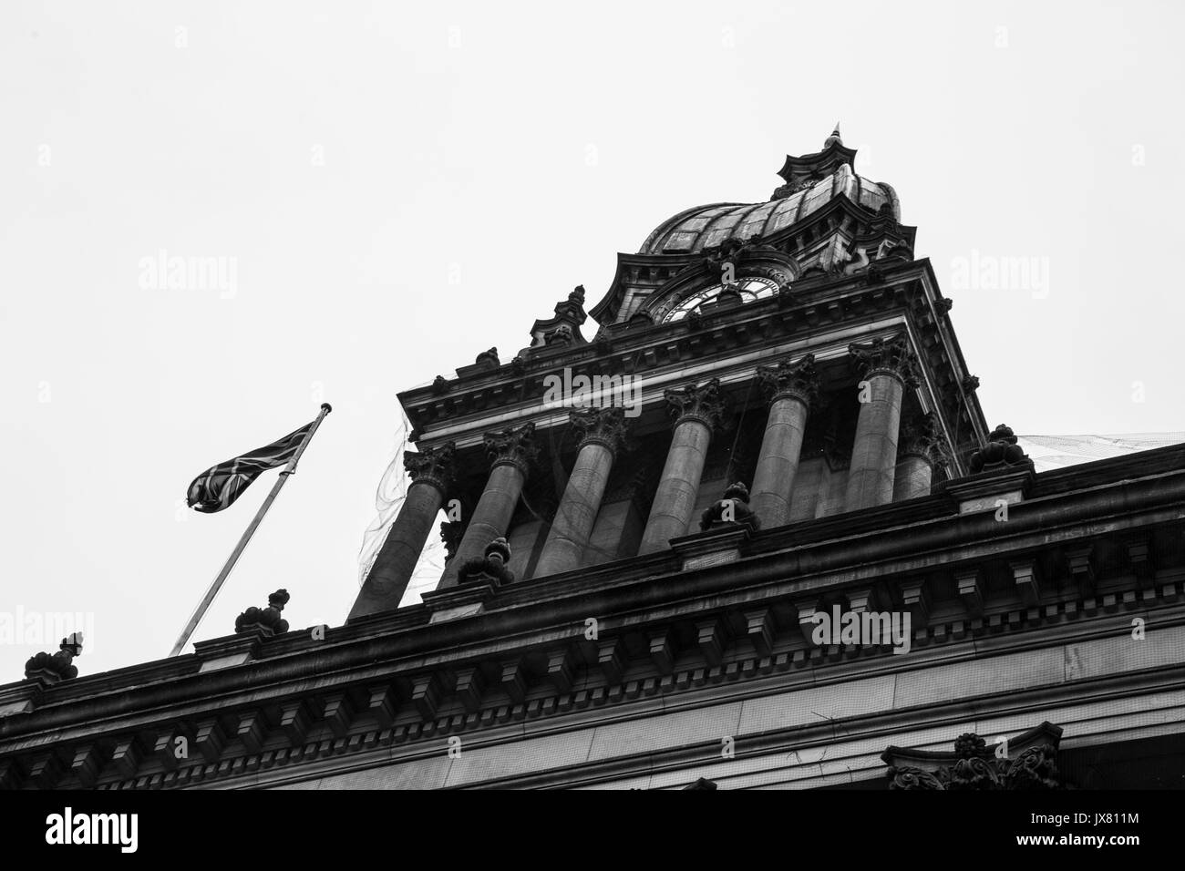 View of Leeds Town Hall. - Stock Image
