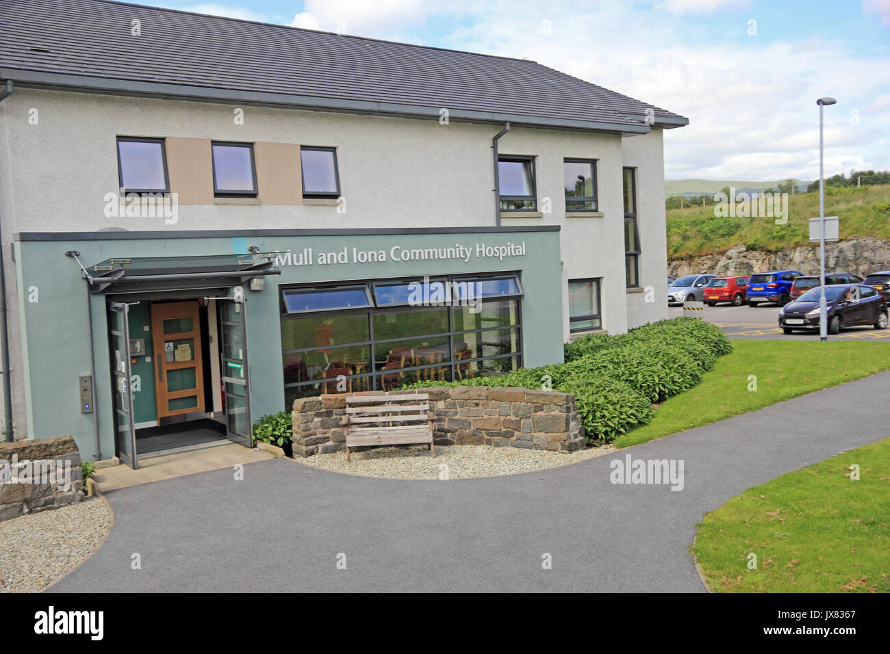 Mull and Iona Community Hospital, Craignure, Isle of Mull - Stock Image