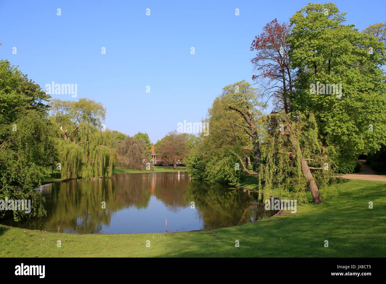 Noorderplantsoen City Park In English Landscape Style In Spring
