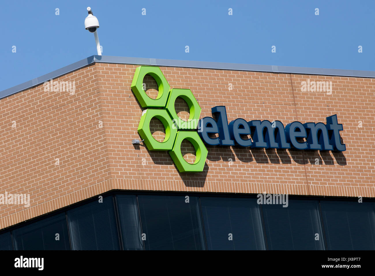 A logo sign outside of a facility occupied by Element Fleet Management in Sparks, Maryland, on August 13, 2017. - Stock Image