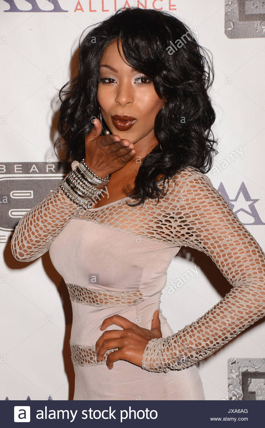 Porscha Coleman. Red carpet arrivals to the 8th Annual BTE All-Star Celebrity Kick-Off Party at the Playboy Mansion Stock Photo
