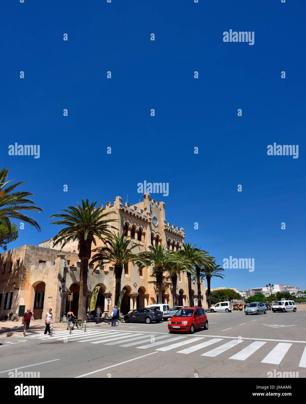 Ciutadella Town Hall - Stock Image