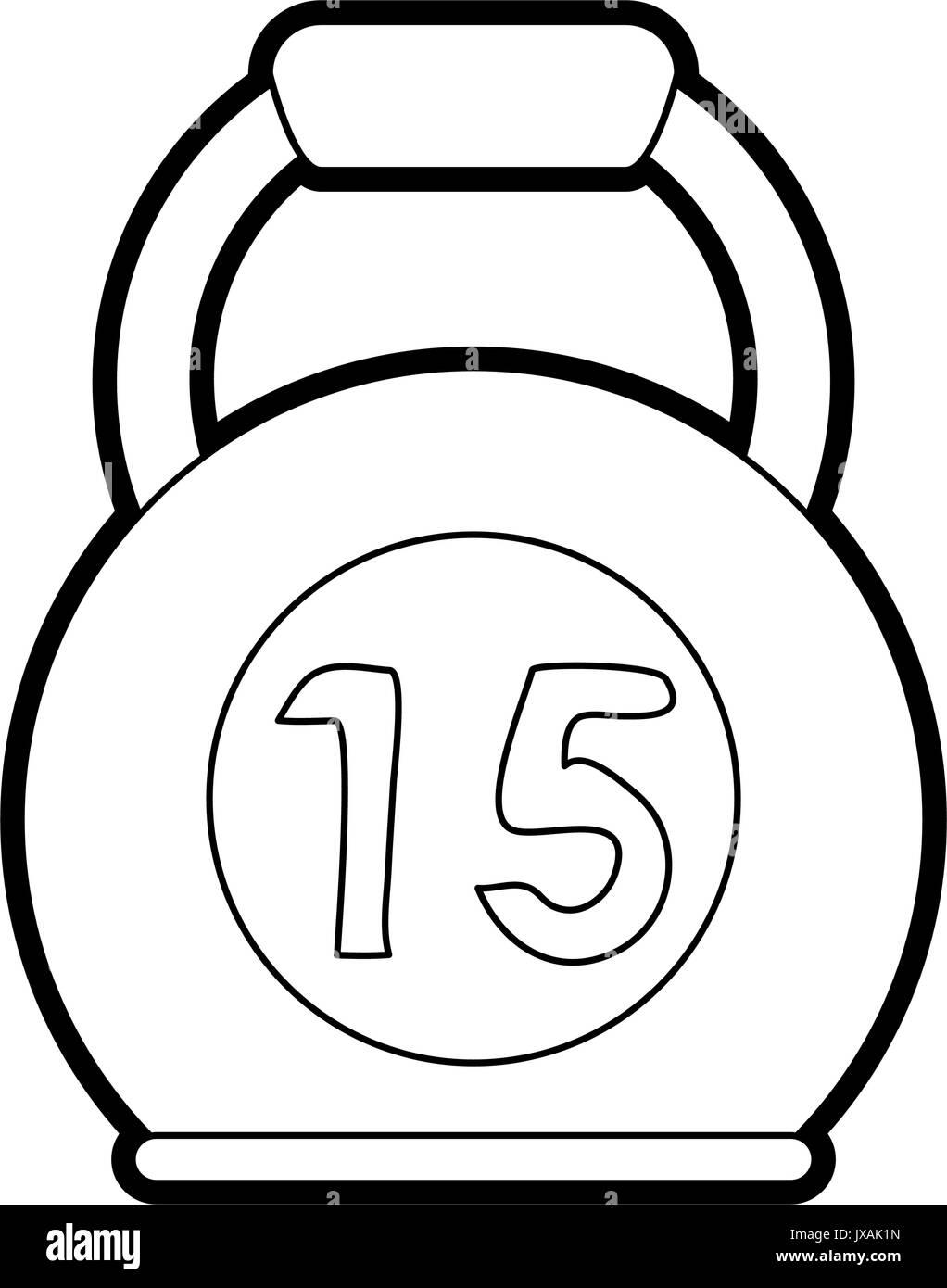 kettlebell vector illustration - Stock Image