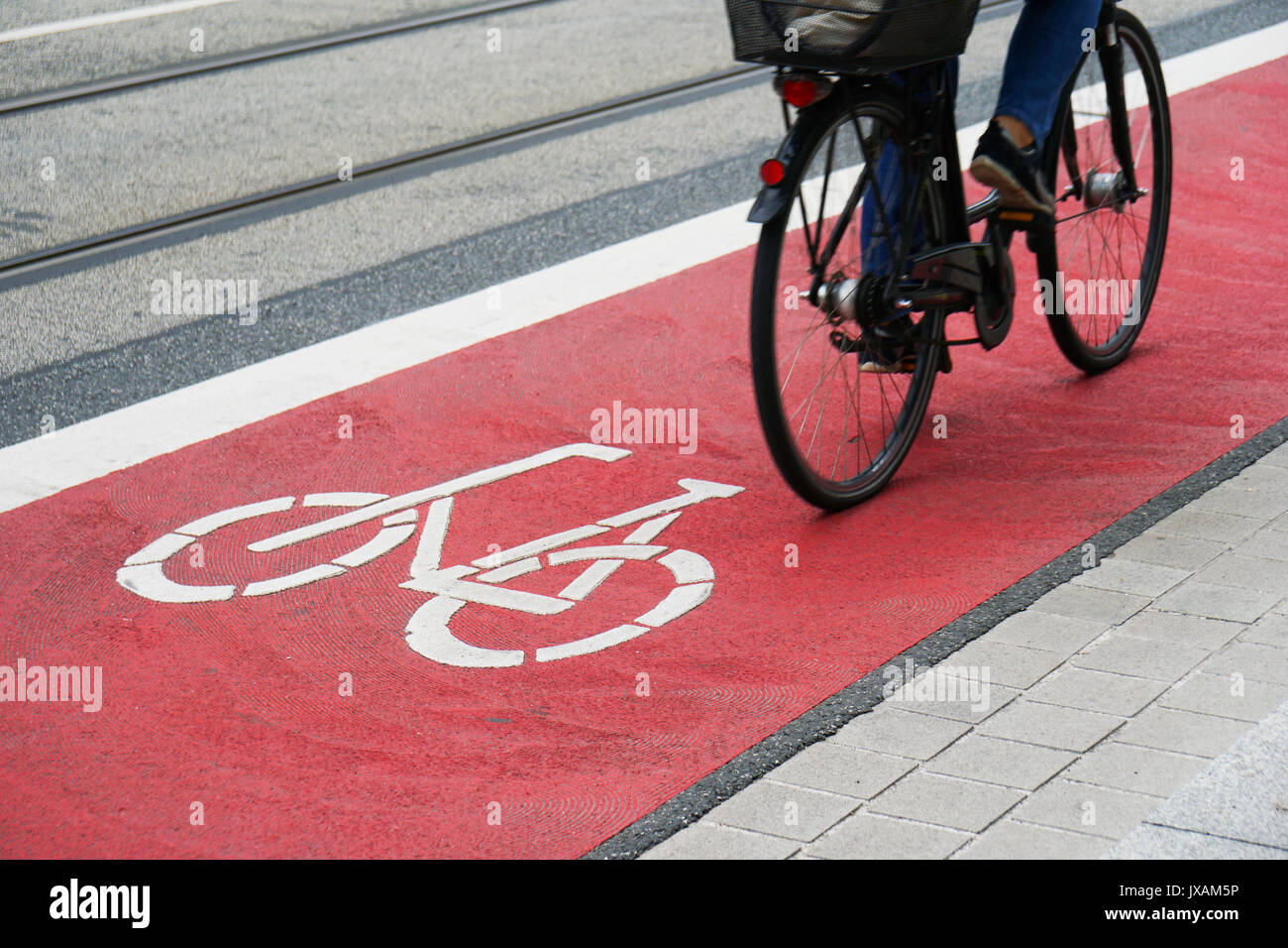 designated bike lane or cycle highway - Stock Image