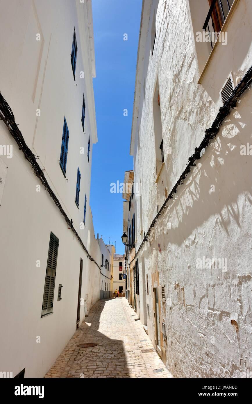 Ciutadella street scene menorca minorca Stock Photo