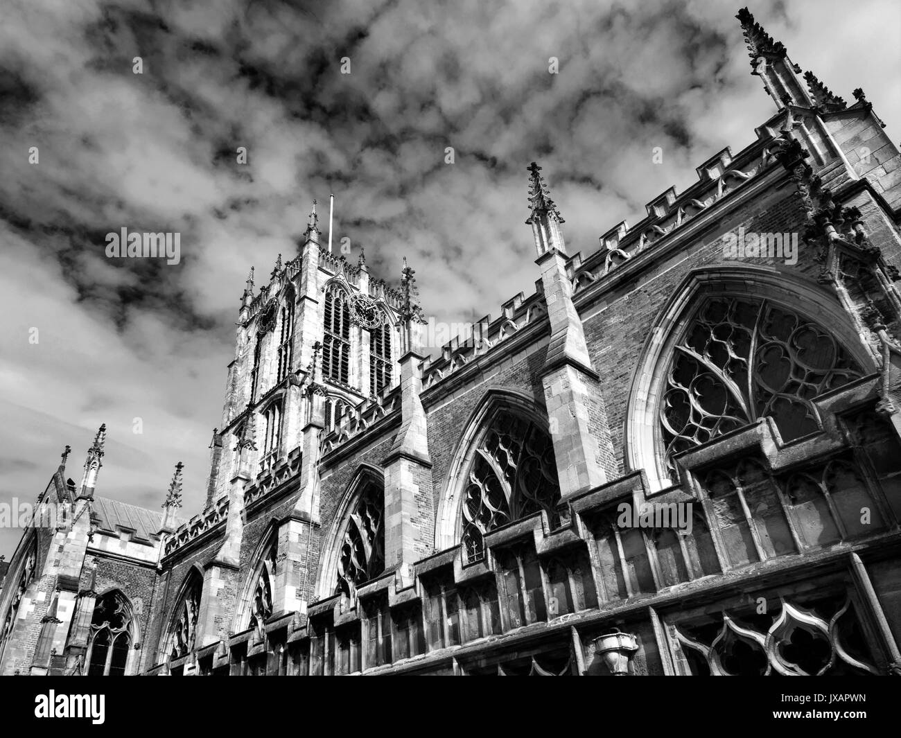 Hull Minster in the Old Town Hull Yorkshire England - Stock Image