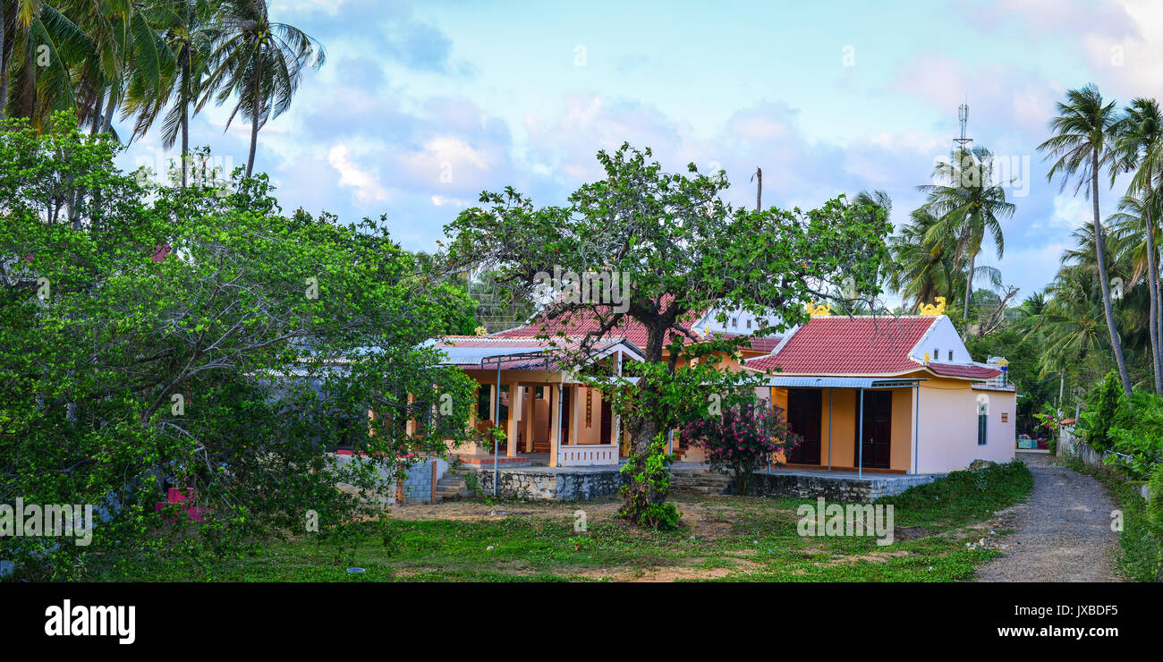 Phan Thiet, Vietnam - Oct 13, 2015. Rural houses at the Mui Ne fishing village in Phan Thiet, Vietnam. Phan Thiet fish sauce is one of the unique tour - Stock Image
