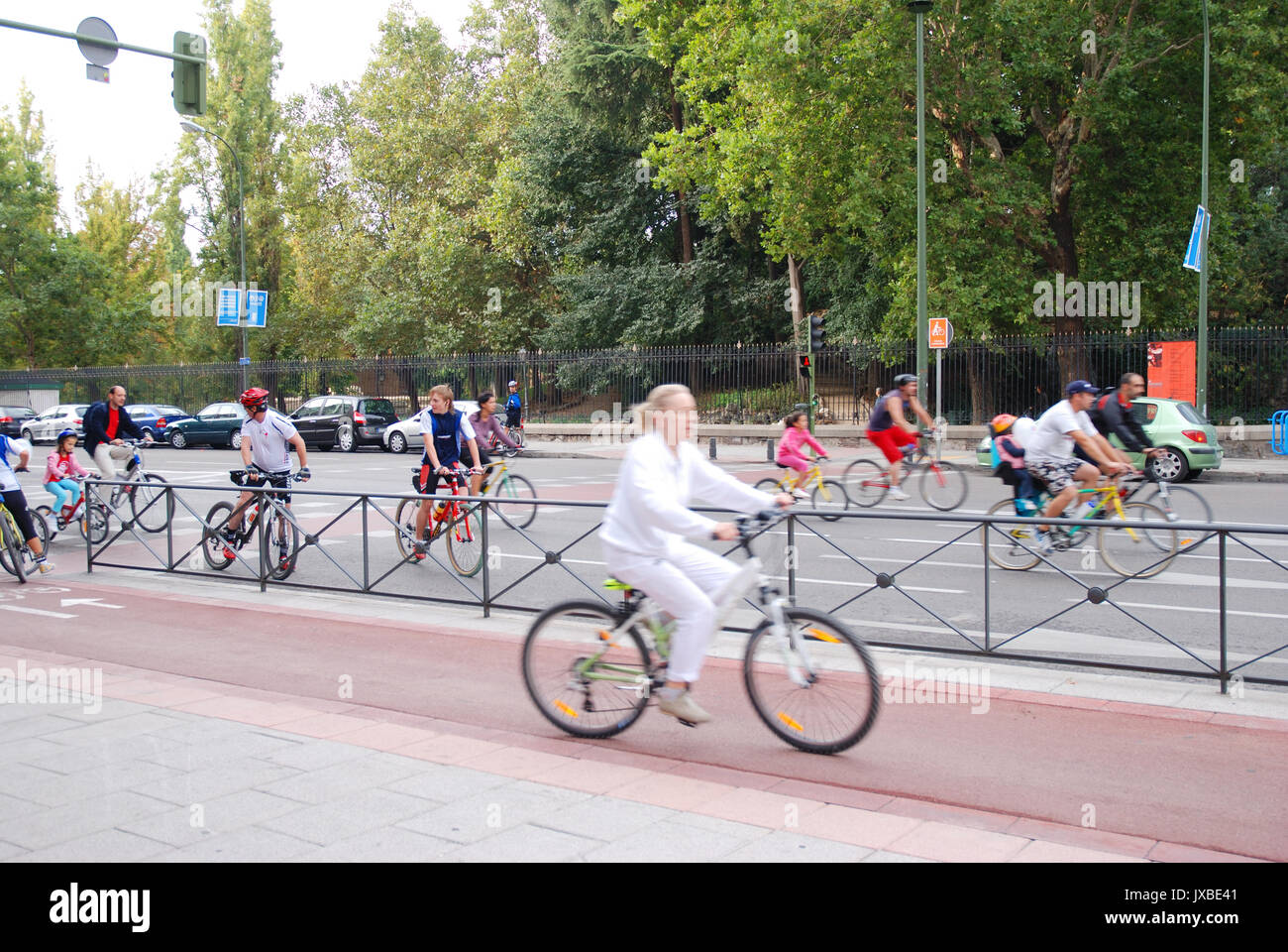 Bicycle Day. Madrid, Spain. - Stock Image