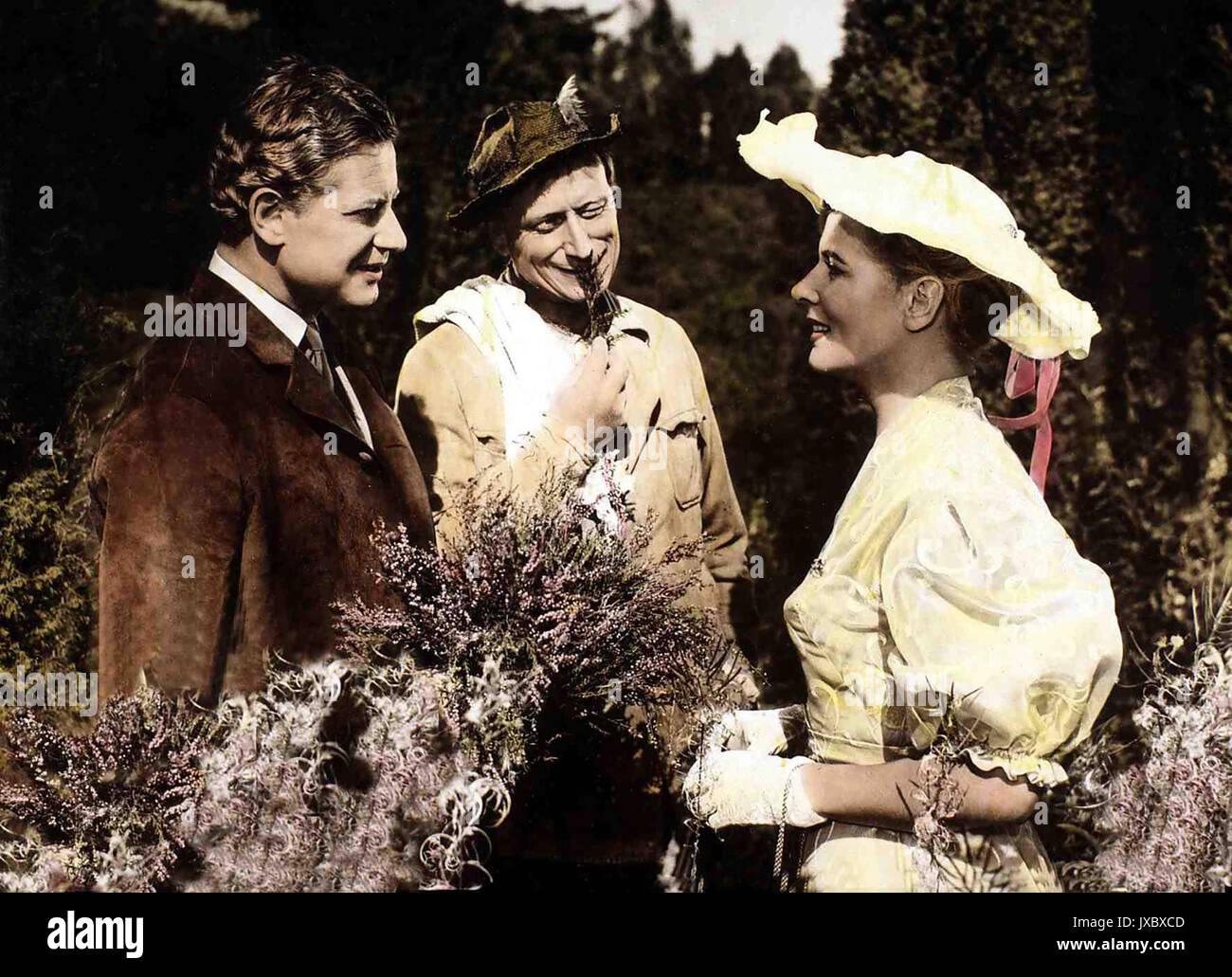 Rot ist die Liebe, Deutschland 1957, Regie: Karl Hartl, Darsteller: Cornell Borchers, Dieter Borsche - Stock Image