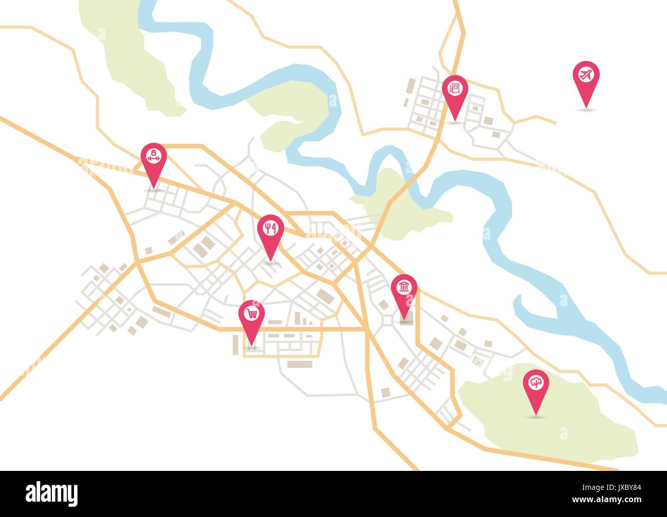 Vector city map - Stock Image