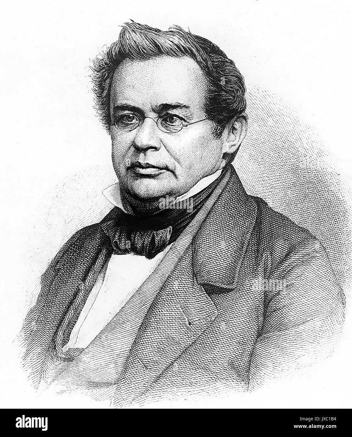 HEINRICH EMIL LENZ (1804-1865)    Russian physicist - Stock Image