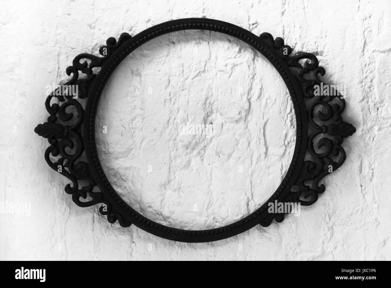 Oval Frame Black and White Stock Photos & Images - Alamy