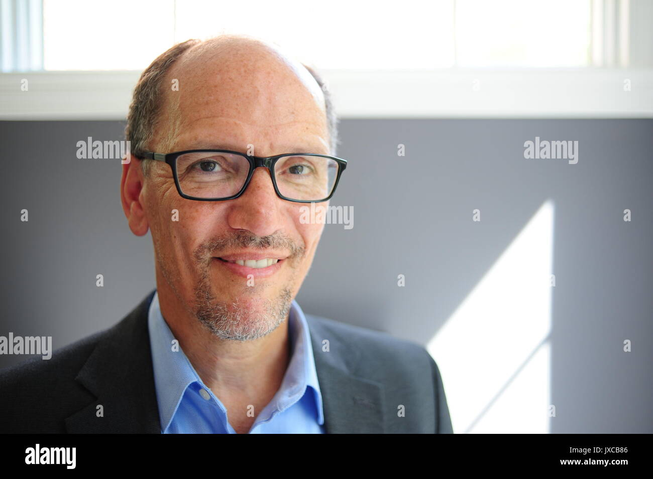 Tom Perez Chairman of the Democratic National Committee DNC at his home in Maryland - Stock Image