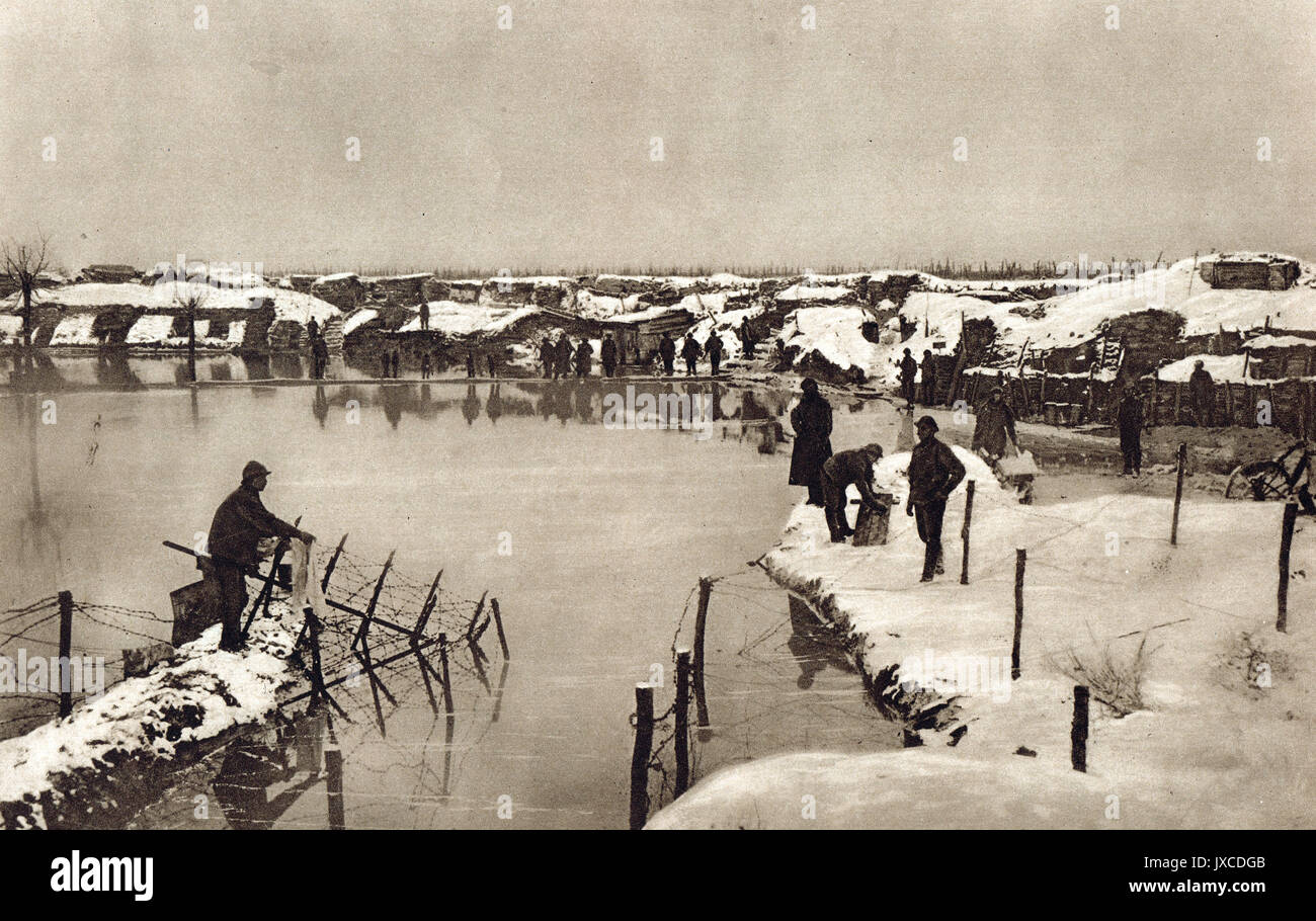 Winter on the Western front, WW1 - Stock Image