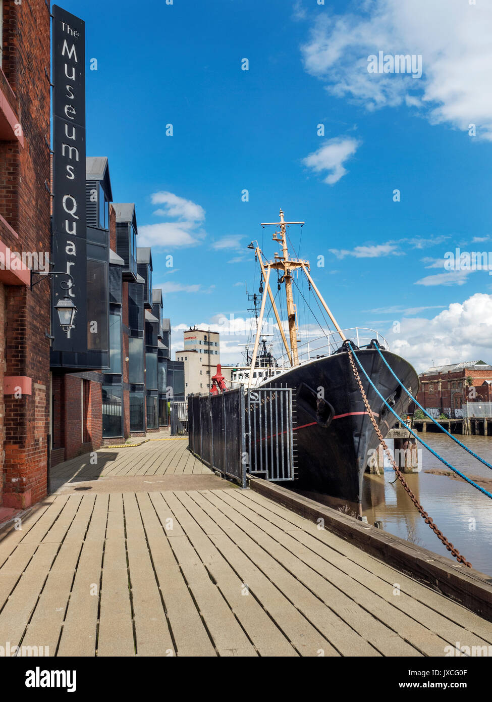 Arctic Corsair former Deep Sea Trawler now a Museum Ship on the River Hull behind the Streetlife Museum Hull Yorkshire England - Stock Image