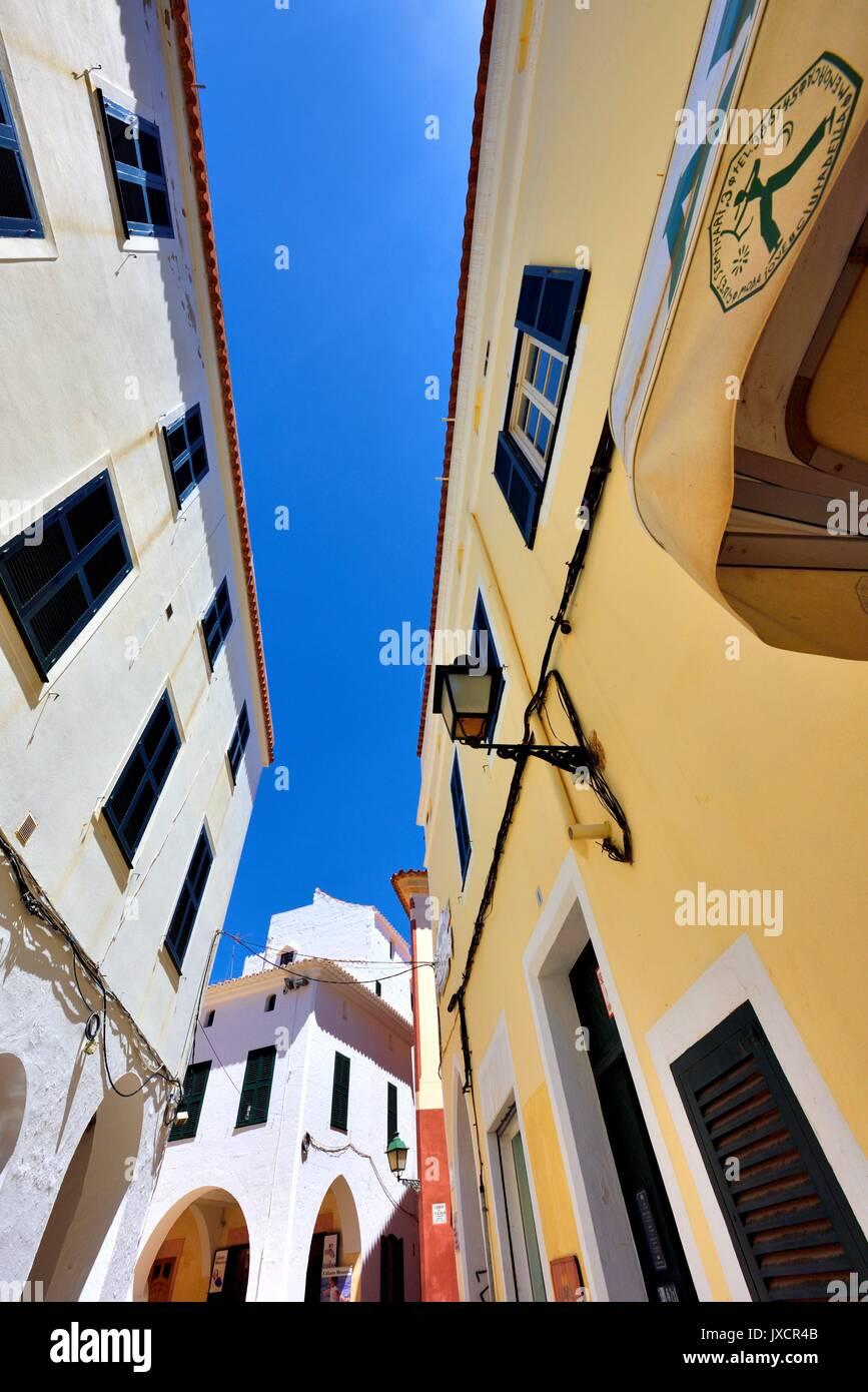 Street scene ciutadella menorca minorca - Stock Image