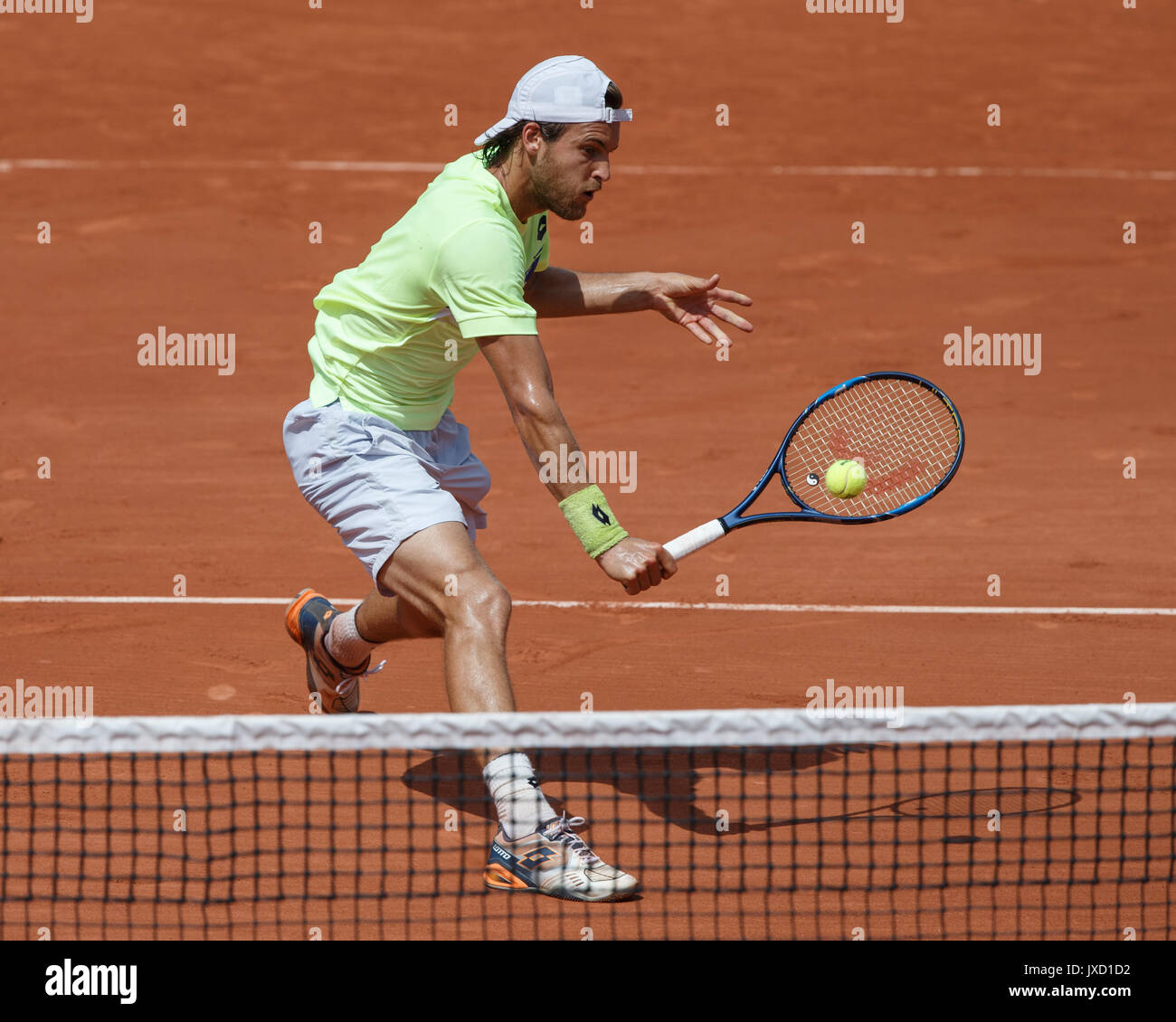 JOAO SOUSA (POR)  Tennis - French Open 2017 - Grand Slam ATP / WTA -  Roland Garros - Paris -  - France  - 31 May 2017. - Stock Image