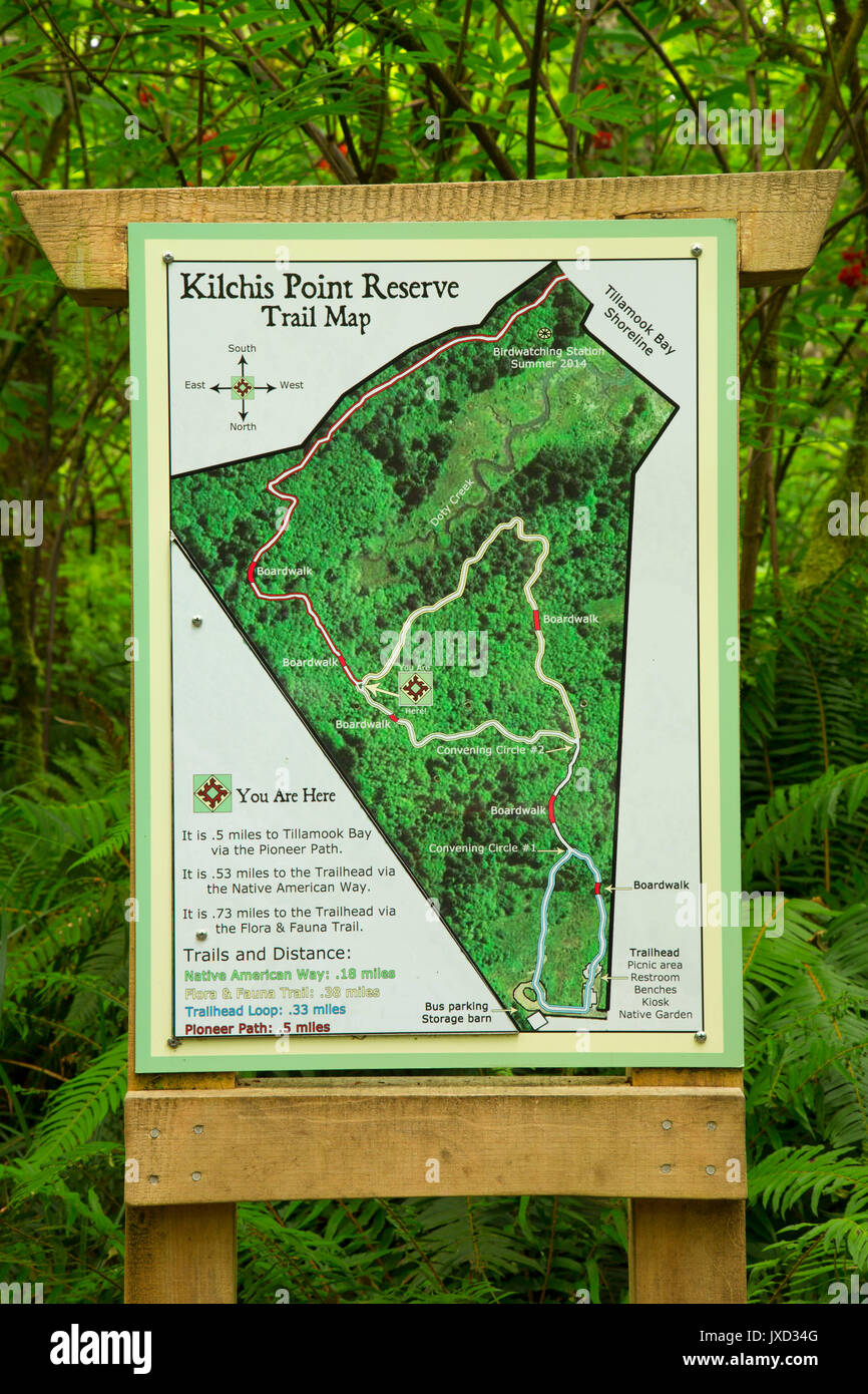 Trail Map Along Flora And Fauna Trail Kilchis Point Reserve Bay