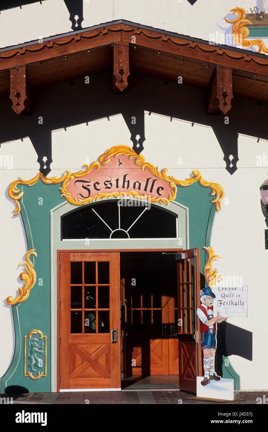 Festival Hall, Leavenworth, Washington Stock Photo