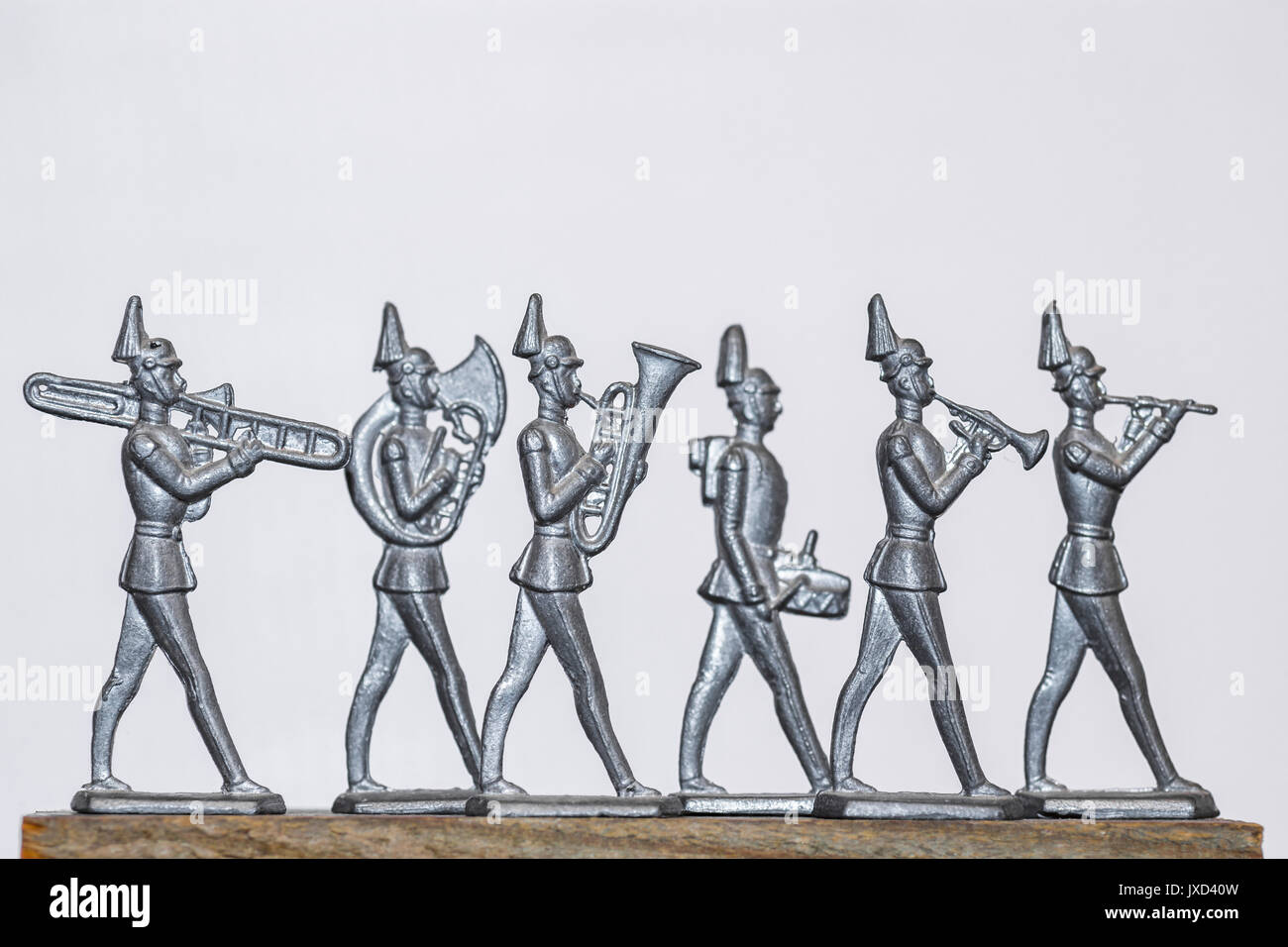 Tin soldier brass band parade - Stock Image