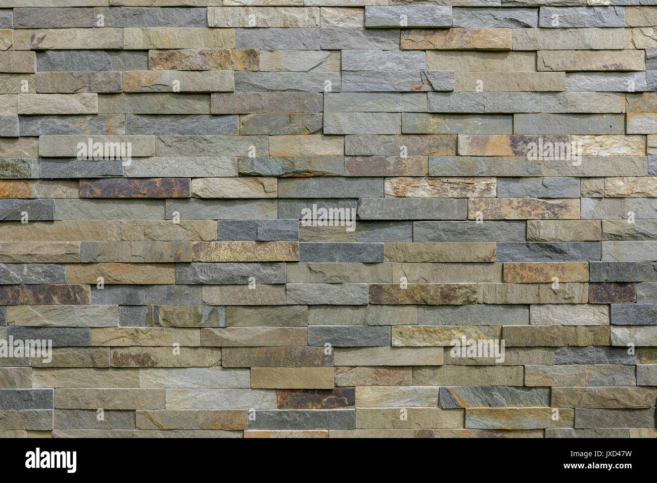 Natural Stone Cladding In Grey Brown Golden And Silver Colour