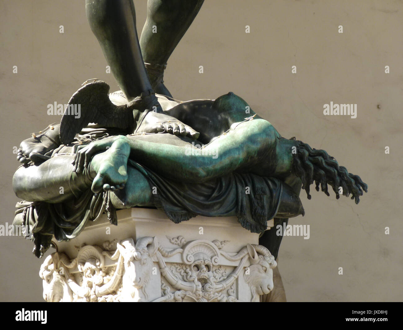 Perseus With The Head Of Medusa Is A Bronze Sculpture Made