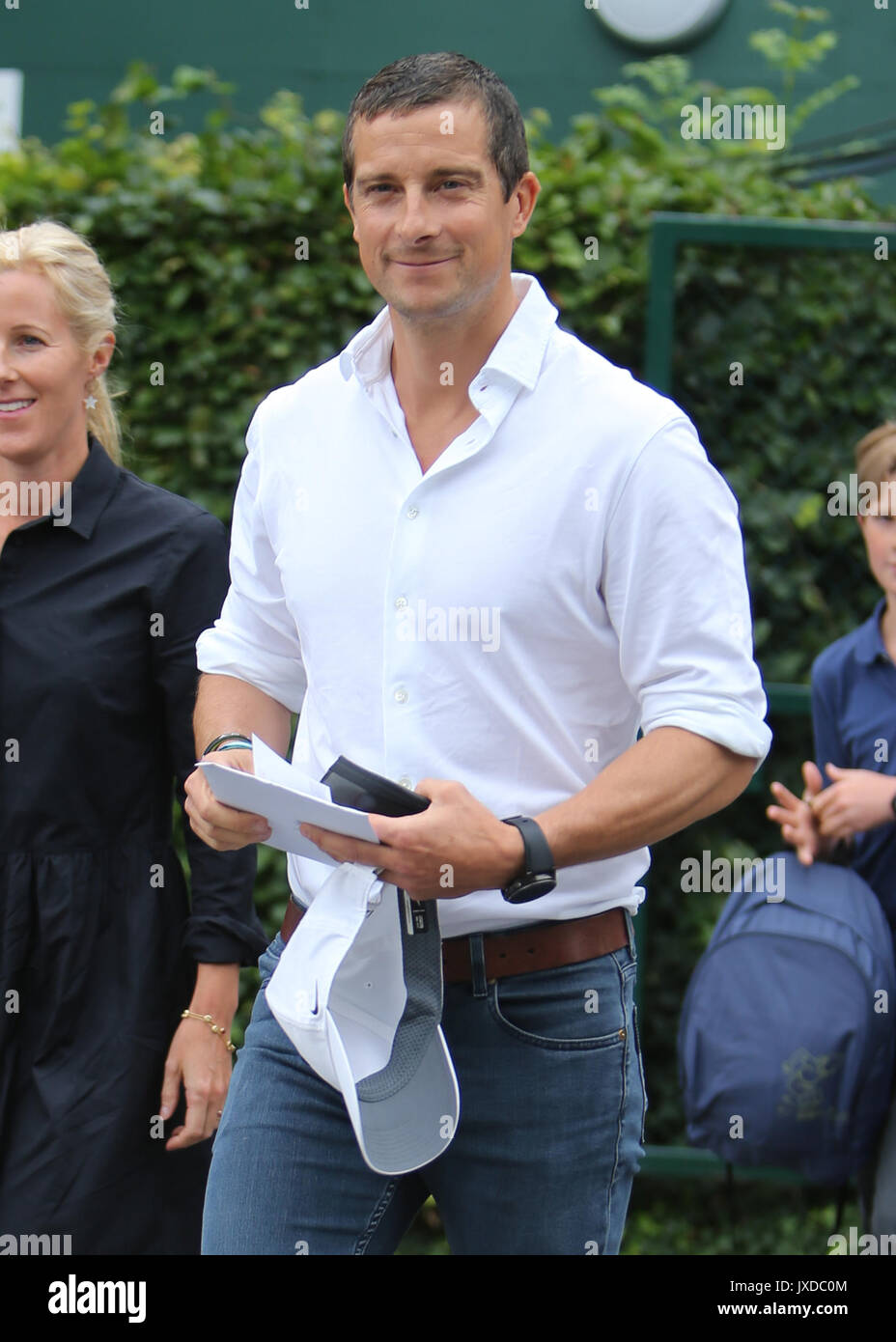 bear grylls and family arriving at wimbledon featuring bear grylls