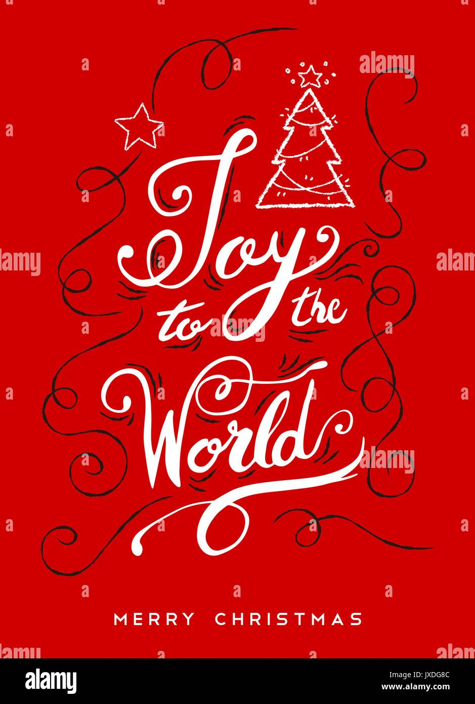 Joy to the world christmas calligraphy quote ornamental text design joy to the world christmas calligraphy quote ornamental text design for holiday season creative vintage typography font illustration eps10 vector m4hsunfo