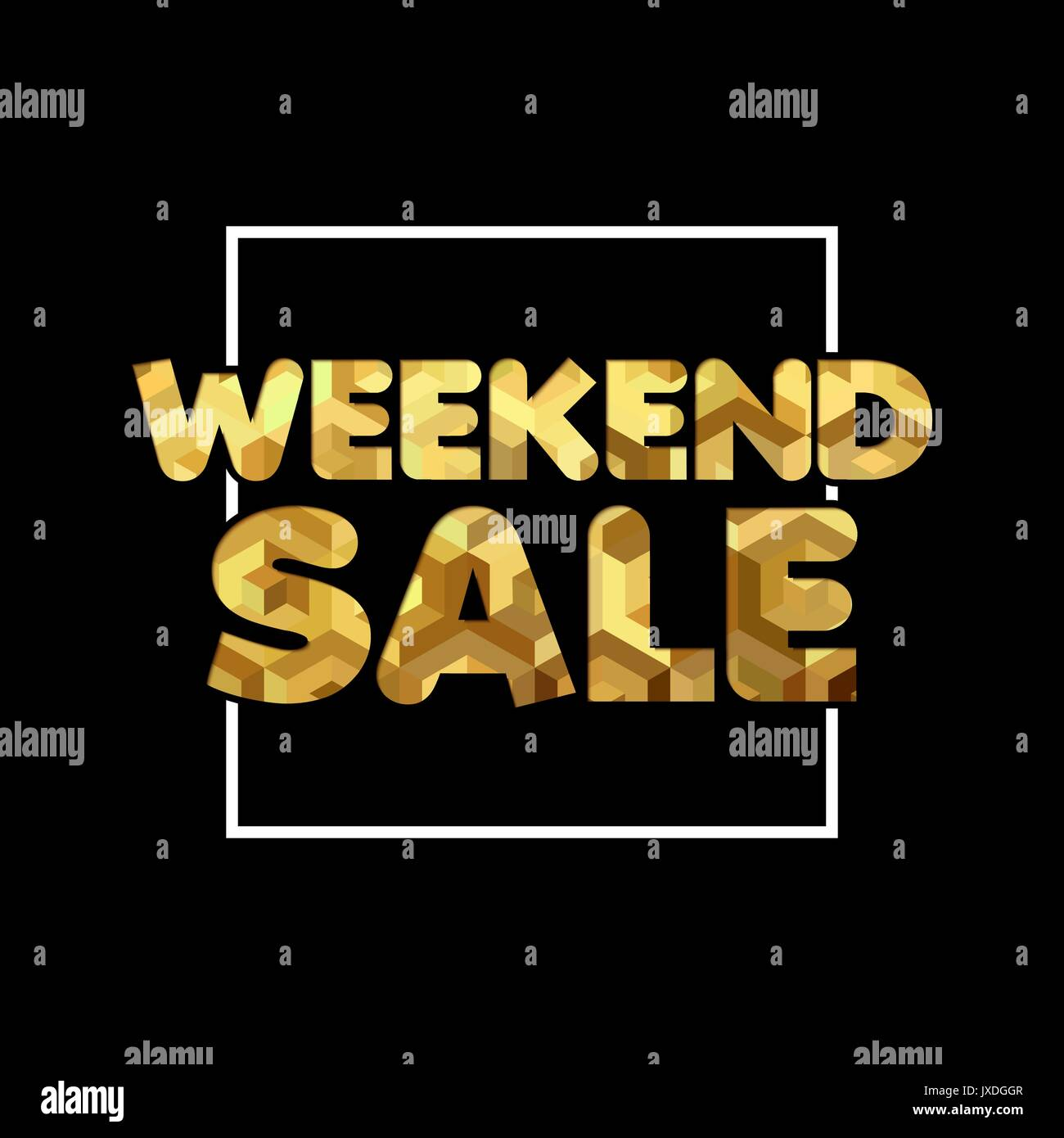 Weekend Discount: Weekend Sale Gold Quote For Special Offer Discount, Luxury