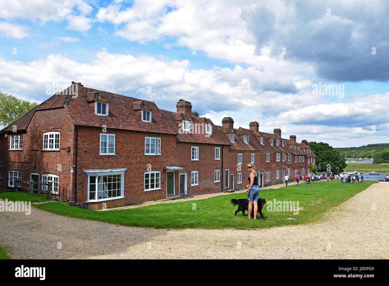 The 18th century shipbuilding village, Bucklers Hard, Beaulieu, New Forest, England. - Stock Image
