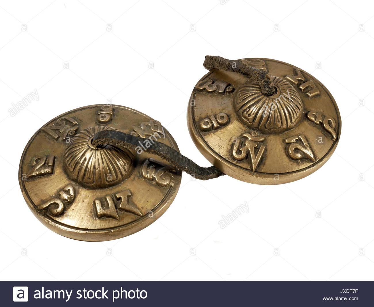 Tibetan  cymbals - Stock Image