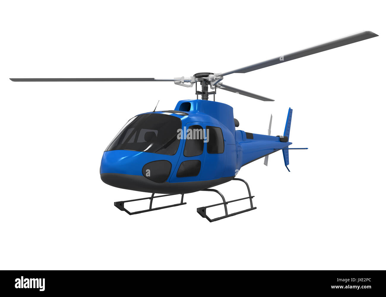 Helicopter Isolated on white background - Stock Image